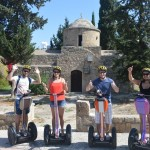 Paphos Segway Tour at the small chapel at Paphos Bar Street