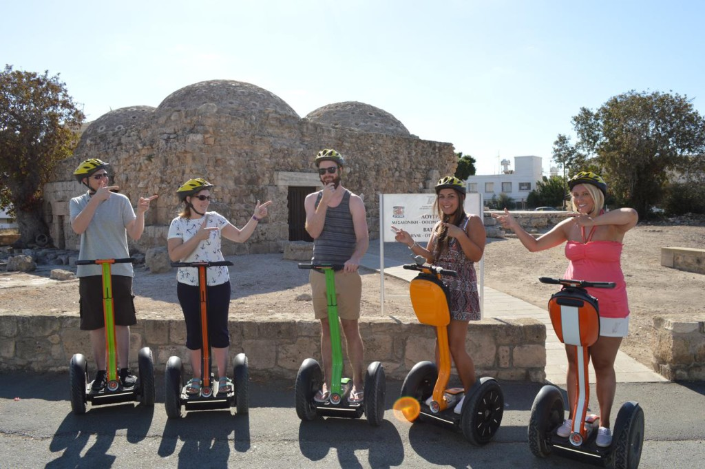 At paphos turkish baths with Paphos Segway Tour